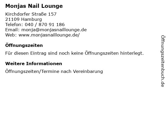 Monjas Nail Lounge in Hamburg: Adresse und Öffnungszeiten