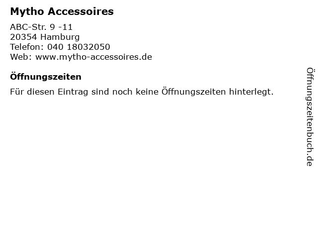 Mytho Accessoires in Hamburg: Adresse und Öffnungszeiten