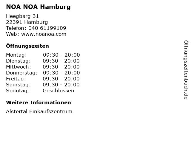 NOA NOA Hamburg in Hamburg: Adresse und Öffnungszeiten