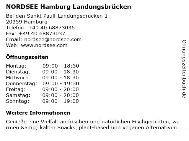 NORDSEE GmbH in Hamburg: Adresse und Öffnungszeiten