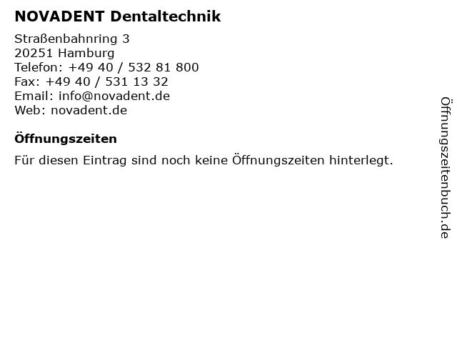 NOVADENT Dentaltechnik in Hamburg: Adresse und Öffnungszeiten