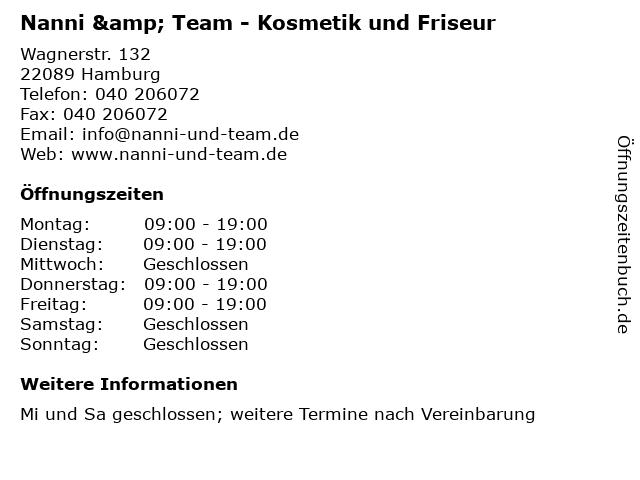 Nanni & Team - Kosmetik und Friseur in Hamburg: Adresse und Öffnungszeiten