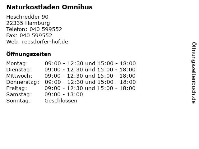 Naturkostladen Omnibus in Hamburg: Adresse und Öffnungszeiten