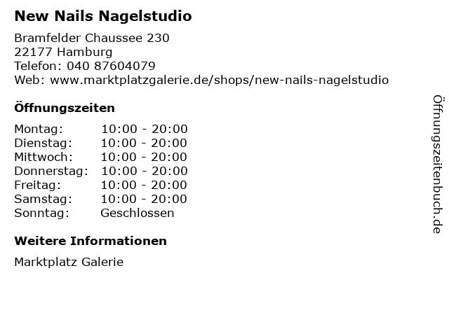 New Nails Nagelstudio in Hamburg: Adresse und Öffnungszeiten