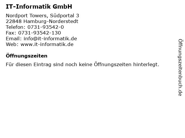 IT-Informatik GmbH in Hamburg-Norderstedt: Adresse und Öffnungszeiten