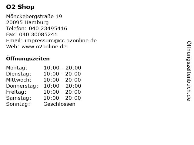 O2 Shop in Hamburg: Adresse und Öffnungszeiten