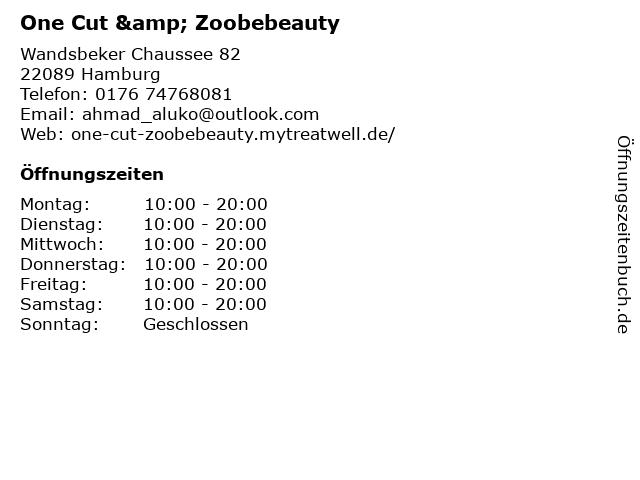 One Cut & Zoobebeauty in Hamburg: Adresse und Öffnungszeiten