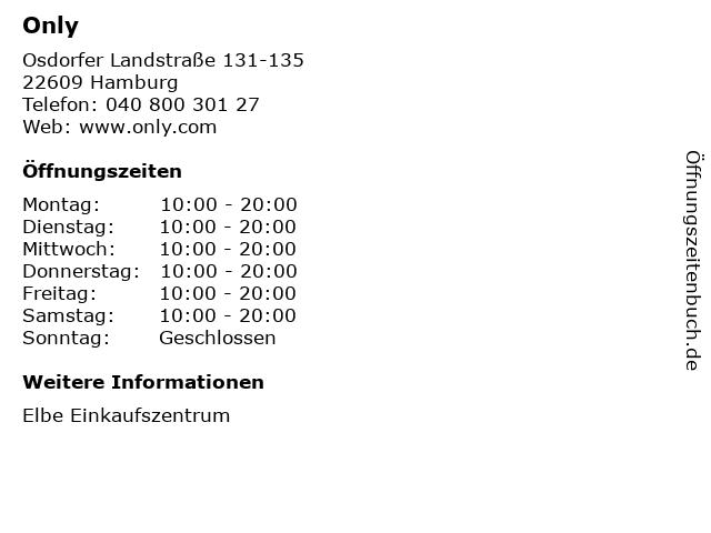 Only in Hamburg: Adresse und Öffnungszeiten