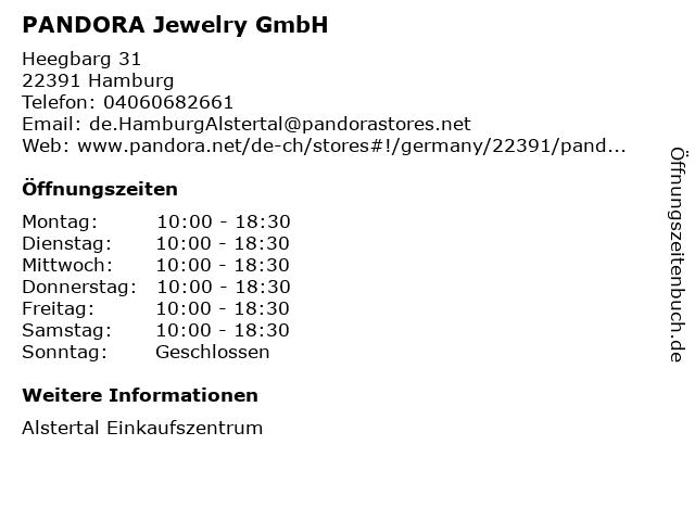 PANDORA Jewelry GmbH in Hamburg: Adresse und Öffnungszeiten