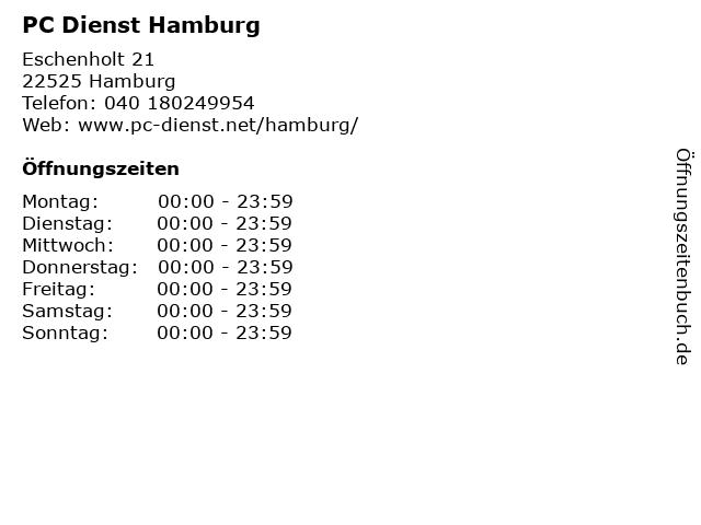 PC Dienst Hamburg in Hamburg: Adresse und Öffnungszeiten