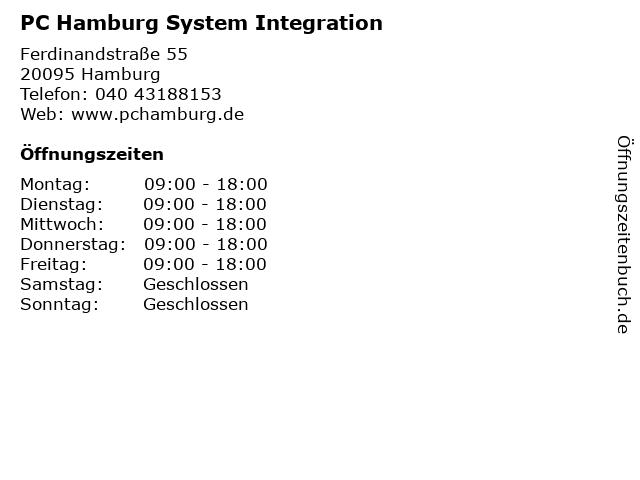 PC Hamburg System Integration in Hamburg: Adresse und Öffnungszeiten