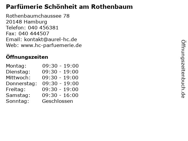 Parfümerie Schönheit am Rothenbaum in Hamburg: Adresse und Öffnungszeiten