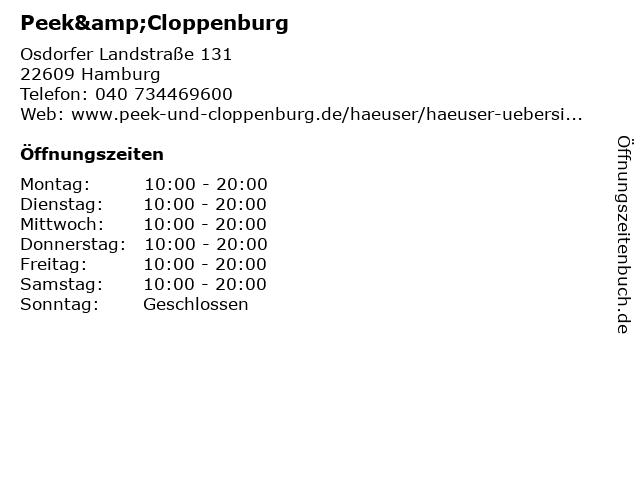 Peek & Cloppenburg in Hamburg: Adresse und Öffnungszeiten