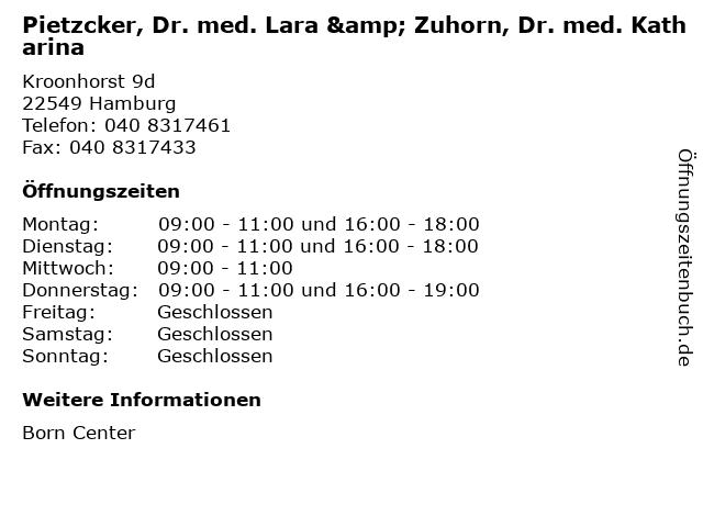 Pietzcker, Dr. med. Lara & Zuhorn, Dr. med. Katharina in Hamburg: Adresse und Öffnungszeiten