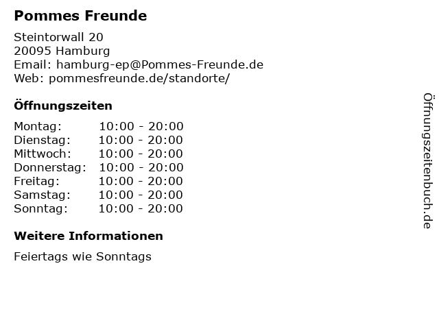 Pommes Freunde in Hamburg: Adresse und Öffnungszeiten