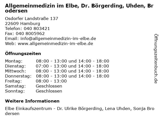 Praxis Dres. Zeigert, Meister und Börgerding in Hamburg: Adresse und Öffnungszeiten