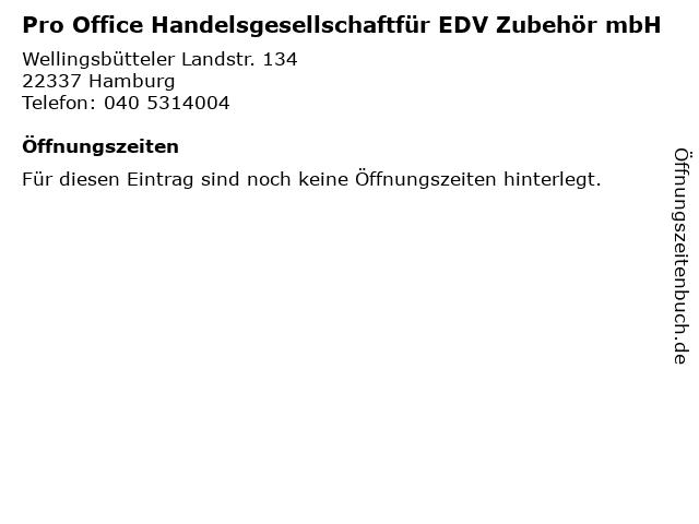 Pro Office Handelsgesellschaftfür EDV Zubehör mbH in Hamburg: Adresse und Öffnungszeiten