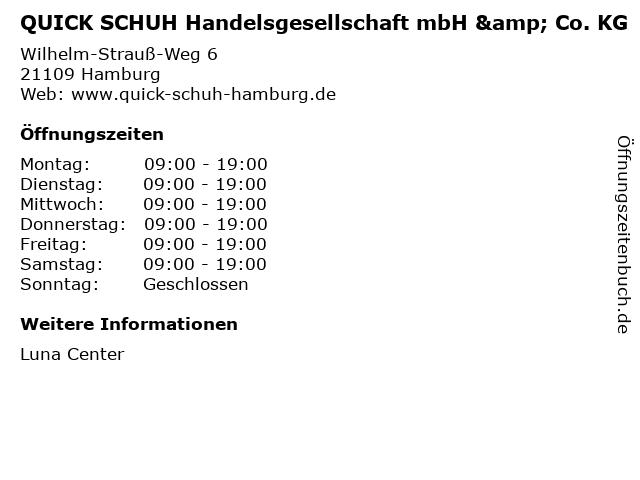 QUICK SCHUH Handelsgesellschaft mbH & Co. KG in Hamburg: Adresse und Öffnungszeiten