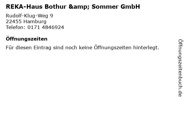REKA-Haus Bothur & Sommer GmbH in Hamburg: Adresse und Öffnungszeiten