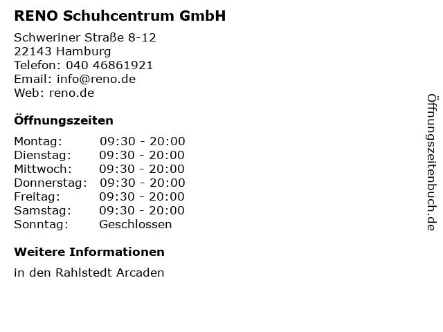 RENO Schuhcentrum GmbH in Hamburg: Adresse und Öffnungszeiten