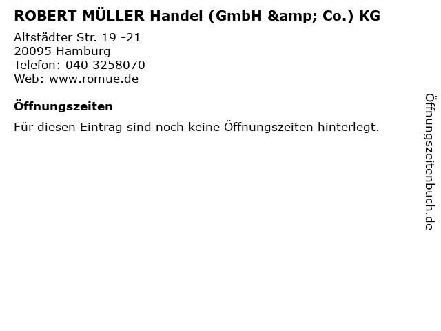 ROBERT MÜLLER Handel (GmbH & Co.) KG in Hamburg: Adresse und Öffnungszeiten