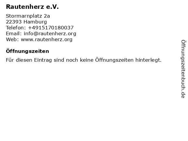Rautenherz e.V. in Hamburg: Adresse und Öffnungszeiten