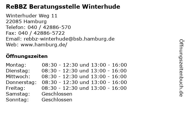 ReBBZ Beratungsstelle Winterhude in Hamburg: Adresse und Öffnungszeiten