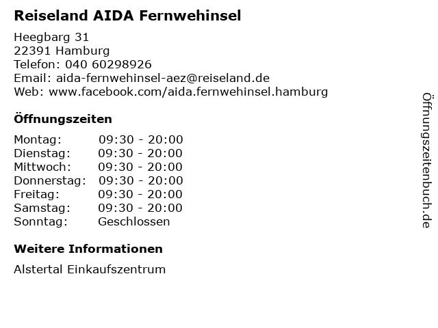 Reiseland AIDA Fernwehinsel in Hamburg: Adresse und Öffnungszeiten