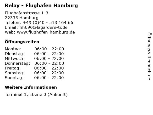 Relay - Flughafen Hamburg in Hamburg: Adresse und Öffnungszeiten