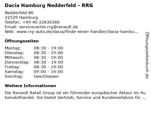Renault Retail Group Deutschland GmbH in Hamburg: Adresse und Öffnungszeiten
