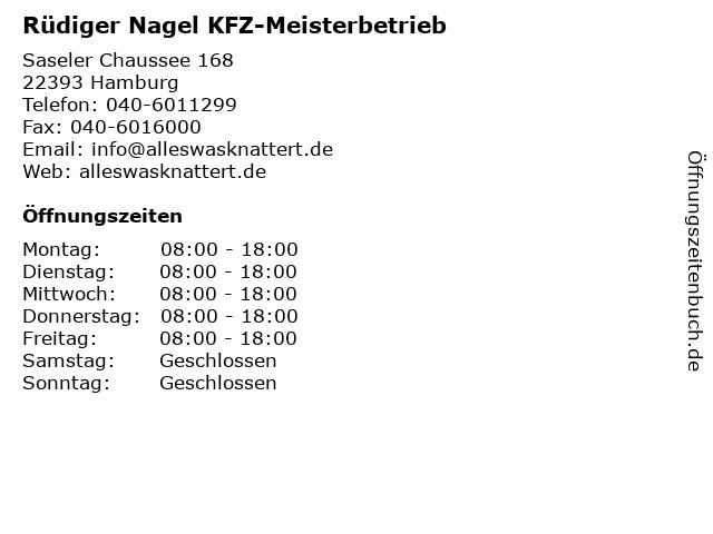 Rüdiger Nagel KFZ-Meisterbetrieb in Hamburg: Adresse und Öffnungszeiten