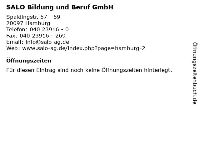 SALO Bildung und Beruf GmbH in Hamburg: Adresse und Öffnungszeiten