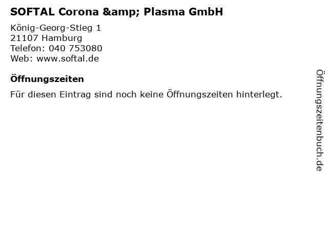 SOFTAL Corona & Plasma GmbH in Hamburg: Adresse und Öffnungszeiten