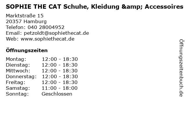 SOPHIE THE CAT Schuhe, Kleidung & Accessoires in Hamburg: Adresse und Öffnungszeiten