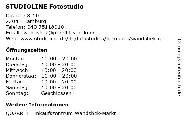 STUDIOLINE Fotostudio in Hamburg: Adresse und Öffnungszeiten