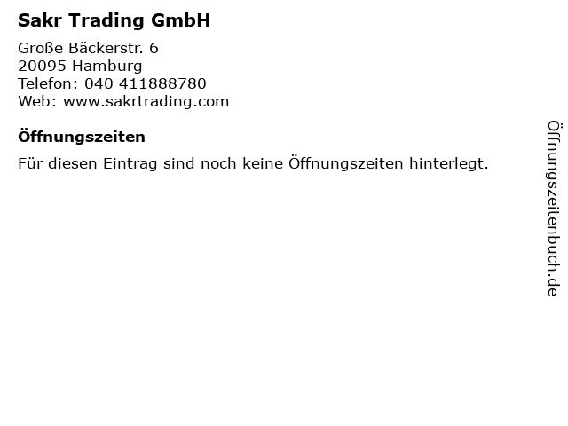 Sakr Trading GmbH in Hamburg: Adresse und Öffnungszeiten
