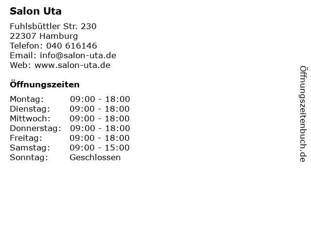 Salon Uta in Hamburg: Adresse und Öffnungszeiten