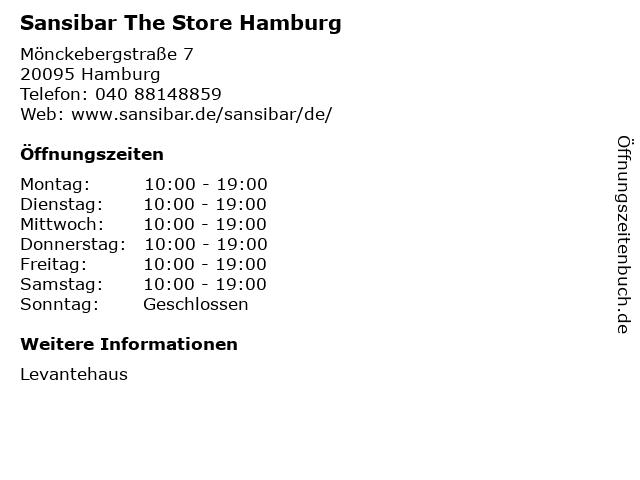 Sansibar The Store Hamburg in Hamburg: Adresse und Öffnungszeiten