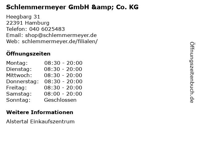 Schlemmermeyer GmbH & Co. KG in Hamburg: Adresse und Öffnungszeiten