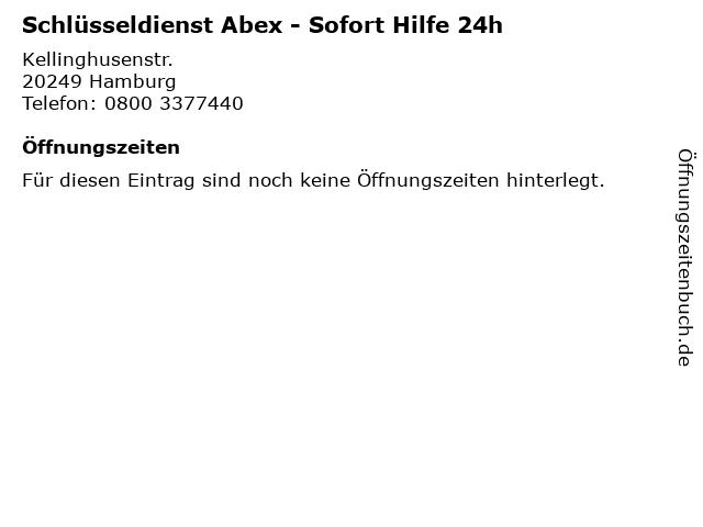 Schlüsseldienst Abex - Sofort Hilfe 24h in Hamburg: Adresse und Öffnungszeiten