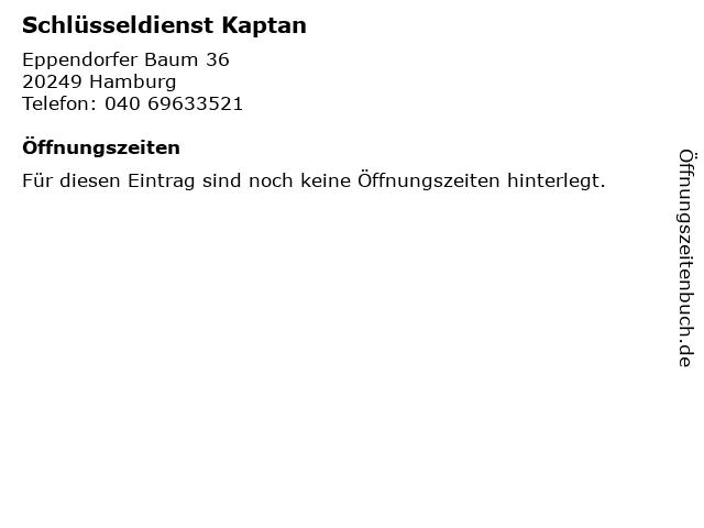 Schlüsseldienst Kaptan in Hamburg: Adresse und Öffnungszeiten