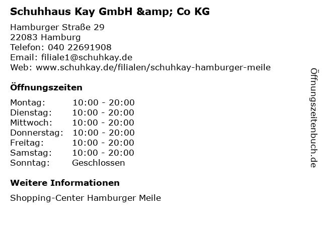 Schuhhaus Kay GmbH & Co KG in Hamburg: Adresse und Öffnungszeiten