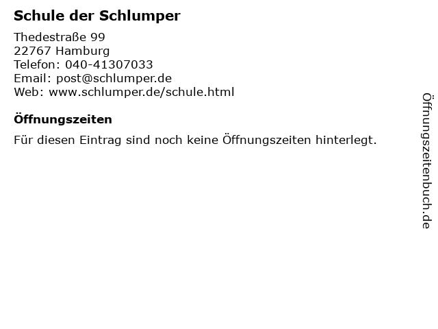 Schule der Schlumper in Hamburg: Adresse und Öffnungszeiten