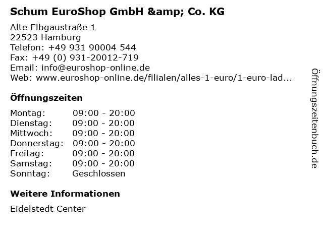 Schum EuroShop GmbH & Co. KG in Hamburg: Adresse und Öffnungszeiten