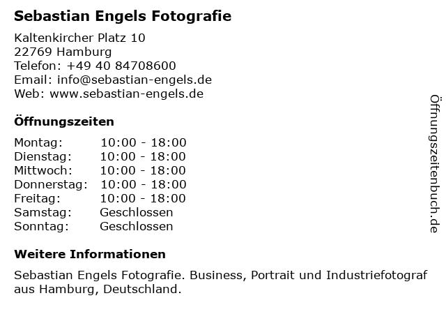 Sebastian Engels Fotografie in Hamburg: Adresse und Öffnungszeiten