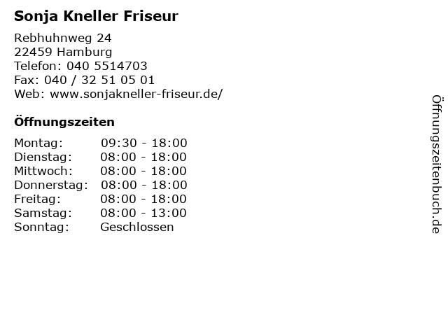 Sonja Kneller Friseur in Hamburg: Adresse und Öffnungszeiten