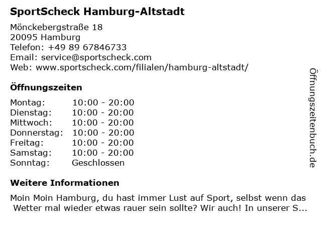 SportScheck GmbH in Hamburg: Adresse und Öffnungszeiten