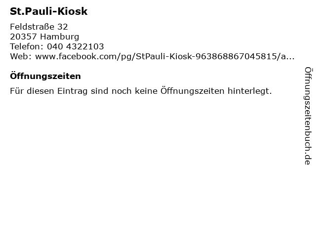St.Pauli-Kiosk in Hamburg: Adresse und Öffnungszeiten