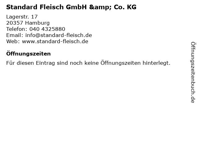Standard Fleisch GmbH & Co. KG in Hamburg: Adresse und Öffnungszeiten
