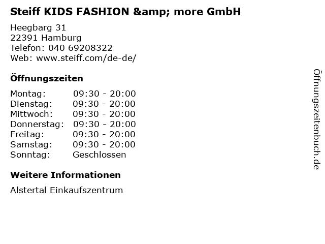Steiff KIDS FASHION & more GmbH in Hamburg: Adresse und Öffnungszeiten
